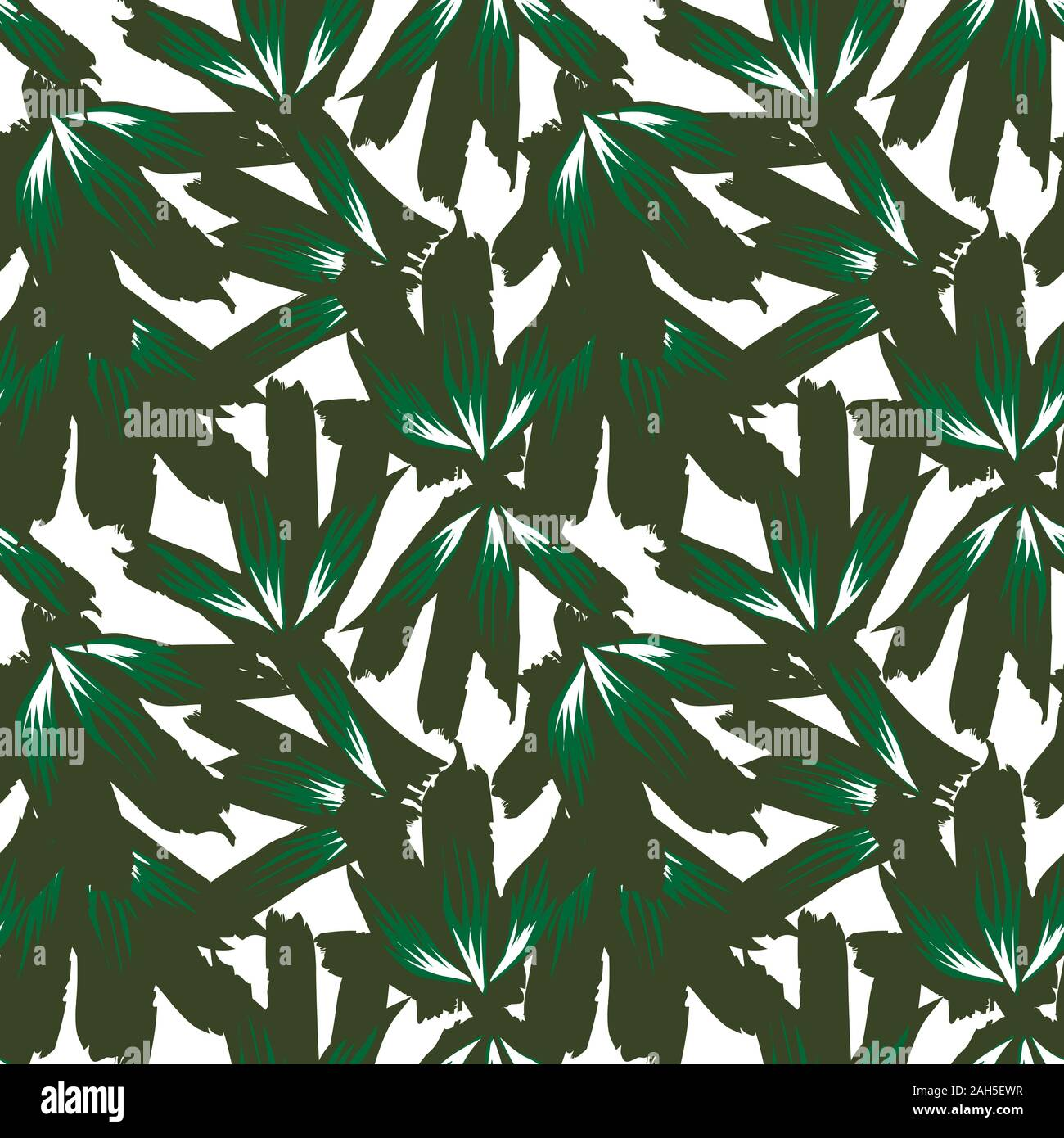 It Is A Tropical Floral Pattern Suitable For Fashion Prints