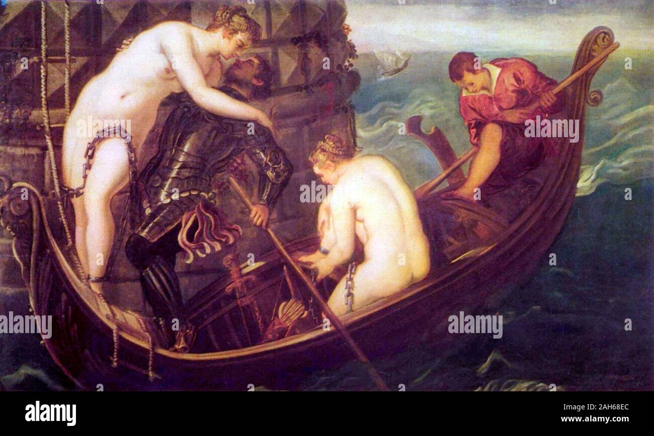 The Deliverance of Arsinoe (c. 1560) by Jacopo Tintoretto Stock Photo