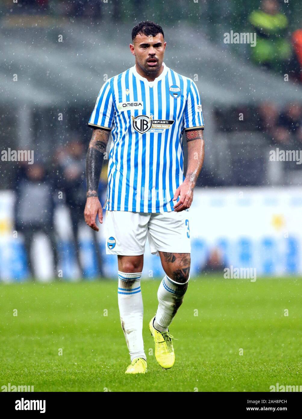 MILAN, ITALY - December 01, 2019: Andrea Petagna looks on during the Serie  A 2019/2020 INTER v SPAL at San Siro Stadium Stock Photo - Alamy