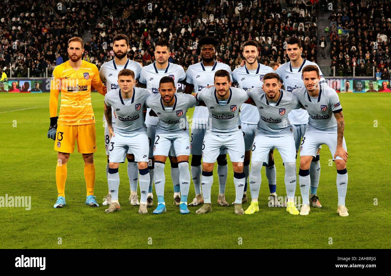 Turin Italy November 26 2019 Atletico Madrid Players Pose For A Team Photo Prior To The Uefa Champions League 2019 2020 Juventus V Atletico De M Stock Photo Alamy