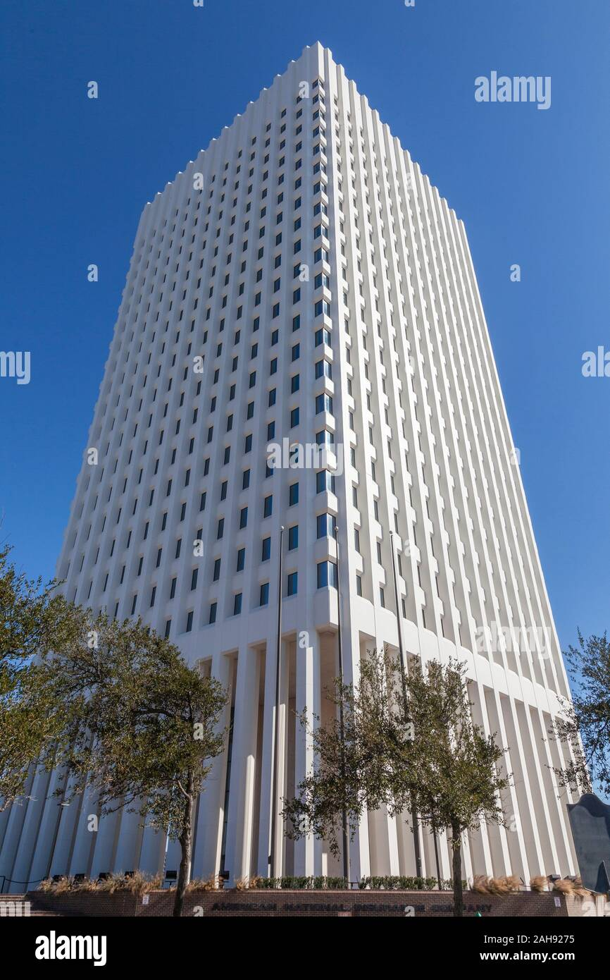 American National Insurance Building In Downtown Galveston Texas Stock Photo Alamy