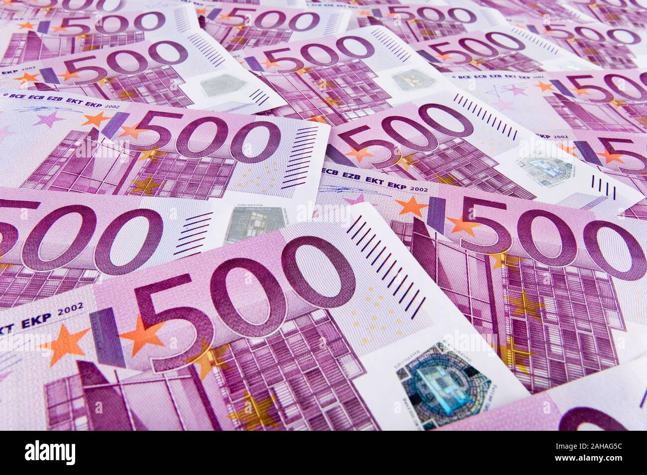 500er Euro-Banknoten Stock Photo