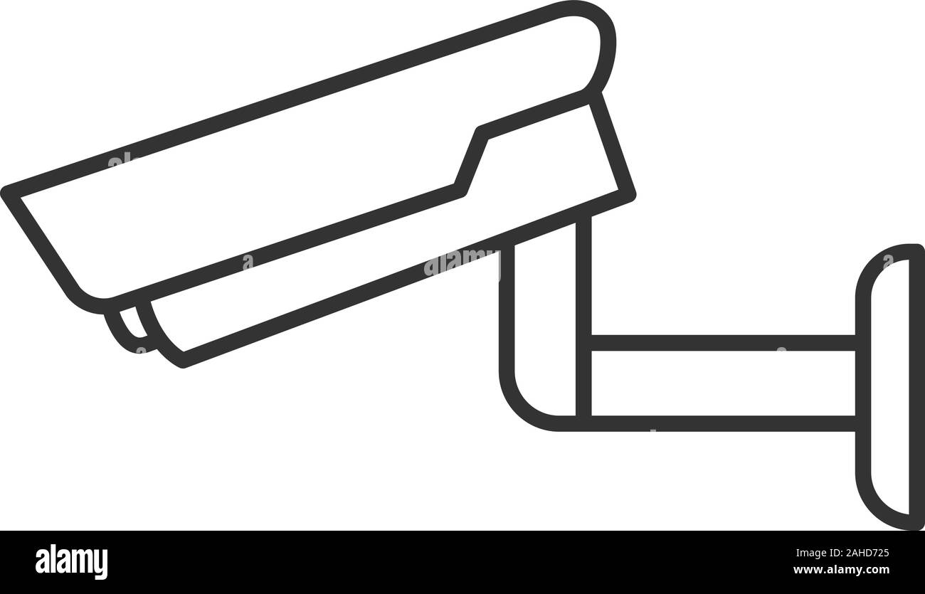 Surveillance Camera Linear Icon Security System Cctv Thin Line Illustration Contour Symbol Vector Isolated Outline Drawing Stock Vector Image Art Alamy