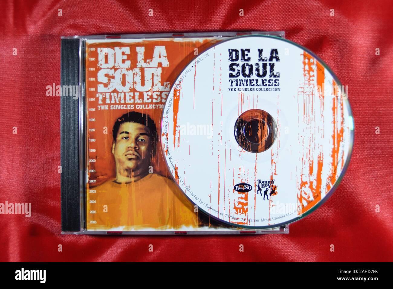 Music CD'S, DE LA Soul Timeless.The Single Collection. Stock Photo