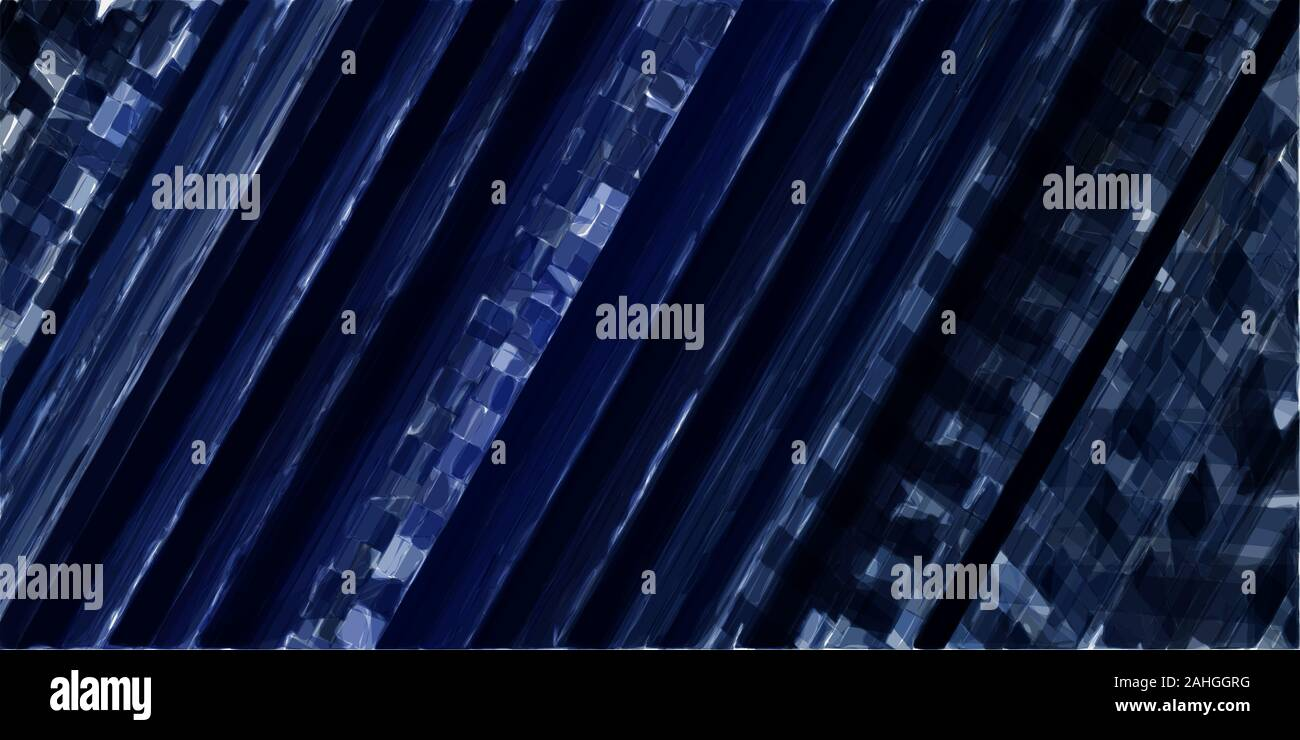 Abstract Technology Stripes Wallpaper With Very Dark Blue Dark