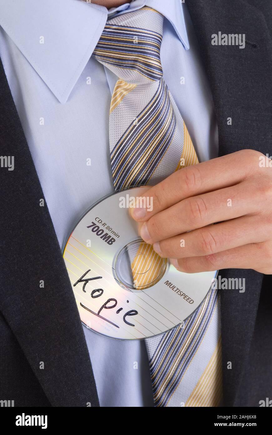 Datenklau, Verkauf der CD an das Finanzamt, MR: Yes Stock Photo