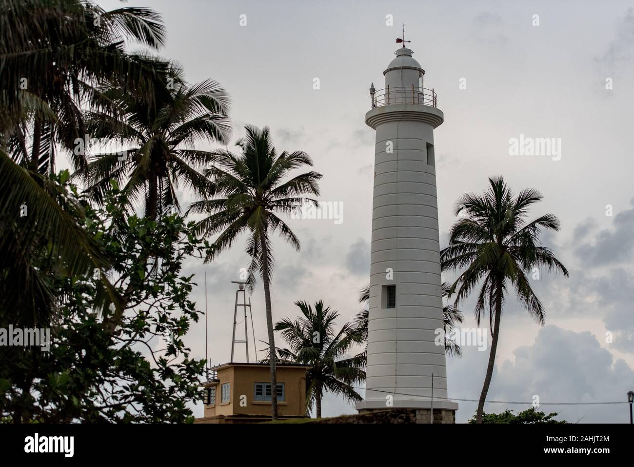 Lighthouse in Galle Fort in Bay of Galle on southwest coast of Sri Lanka. Stock Photo