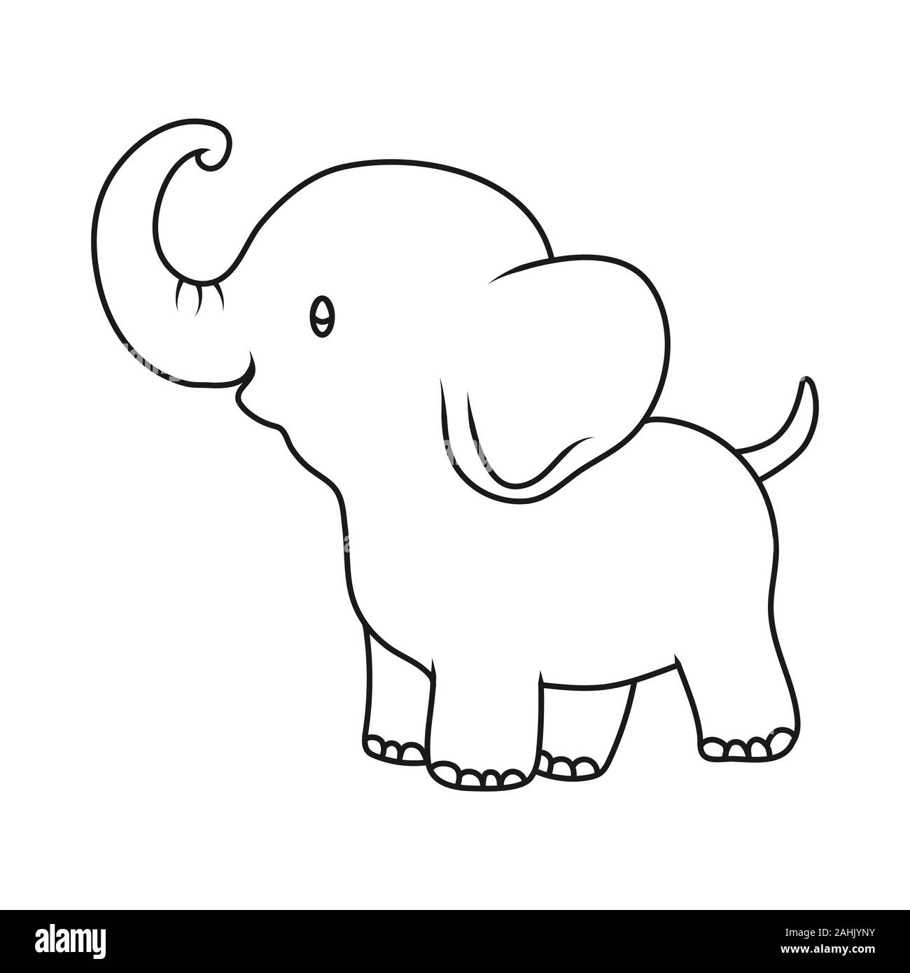Cartoon Elephant High Resolution Stock Photography And Images Alamy