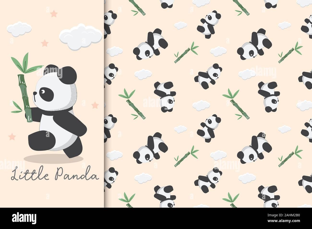 Panda Wallpaper Stock Vector Images Alamy