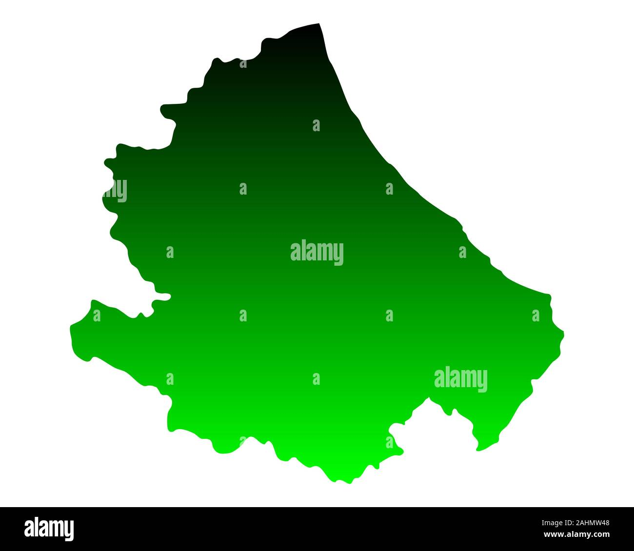 Map Of Abruzzo Stock Photo Alamy