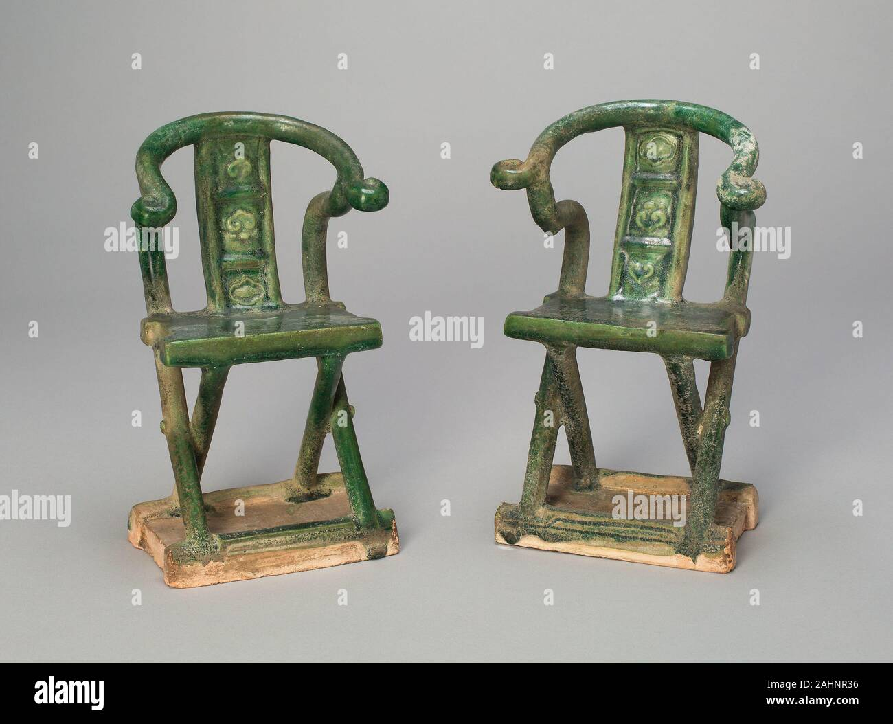 Miniature Folding Chair Mingqi 1368 1644 China Earthenware With Green Glaze And Underglaze Molded Decoration Stock Photo Alamy