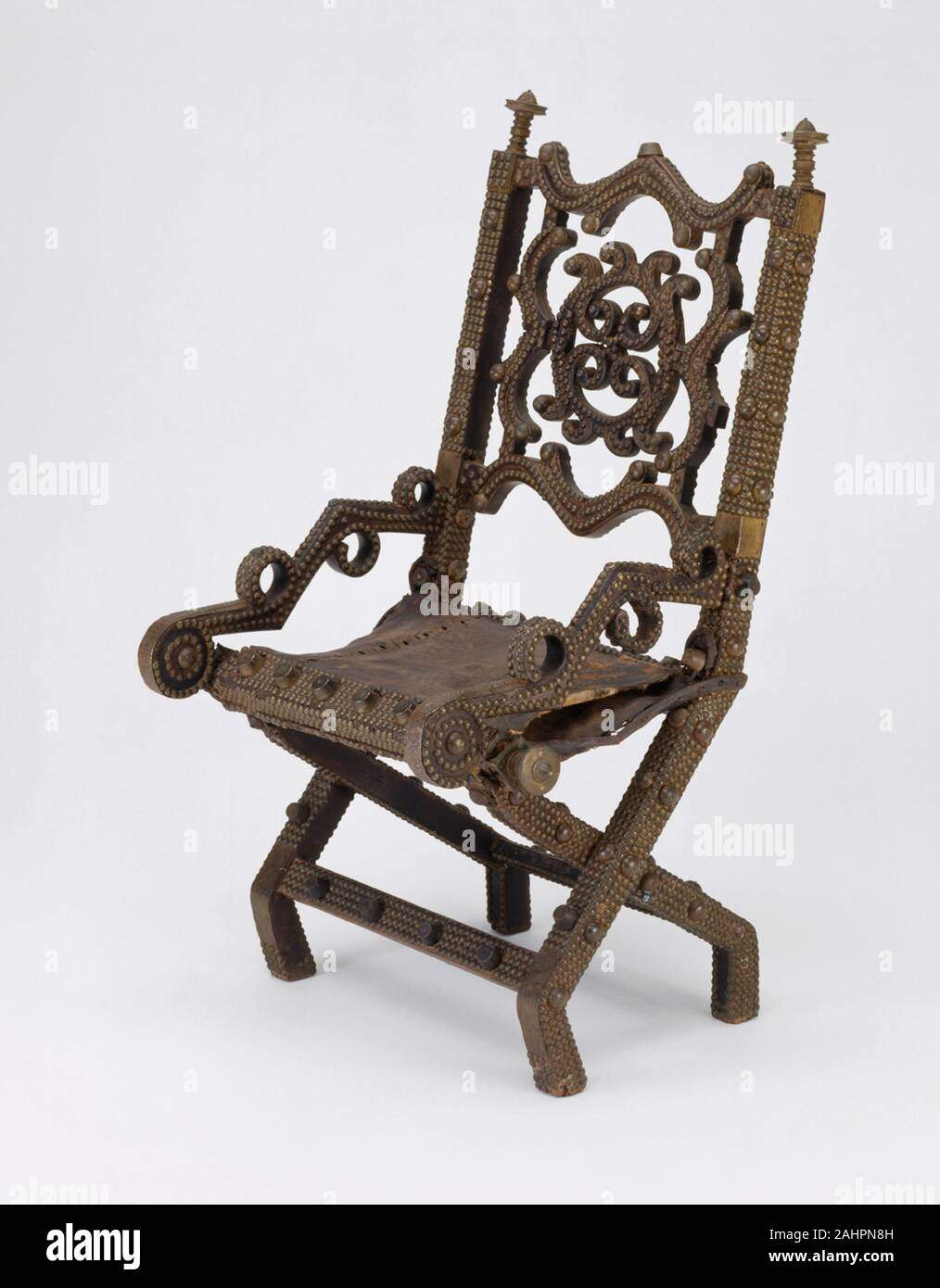 Asante. Royal Chair (Akonkromfi). 6–6. Ghana. Wood, brass