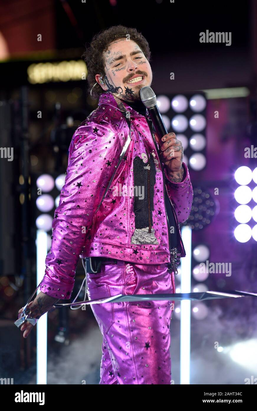 New York Ny Usa 31st Dec 2019 Post Malone In Attendance For Times Square New Year S