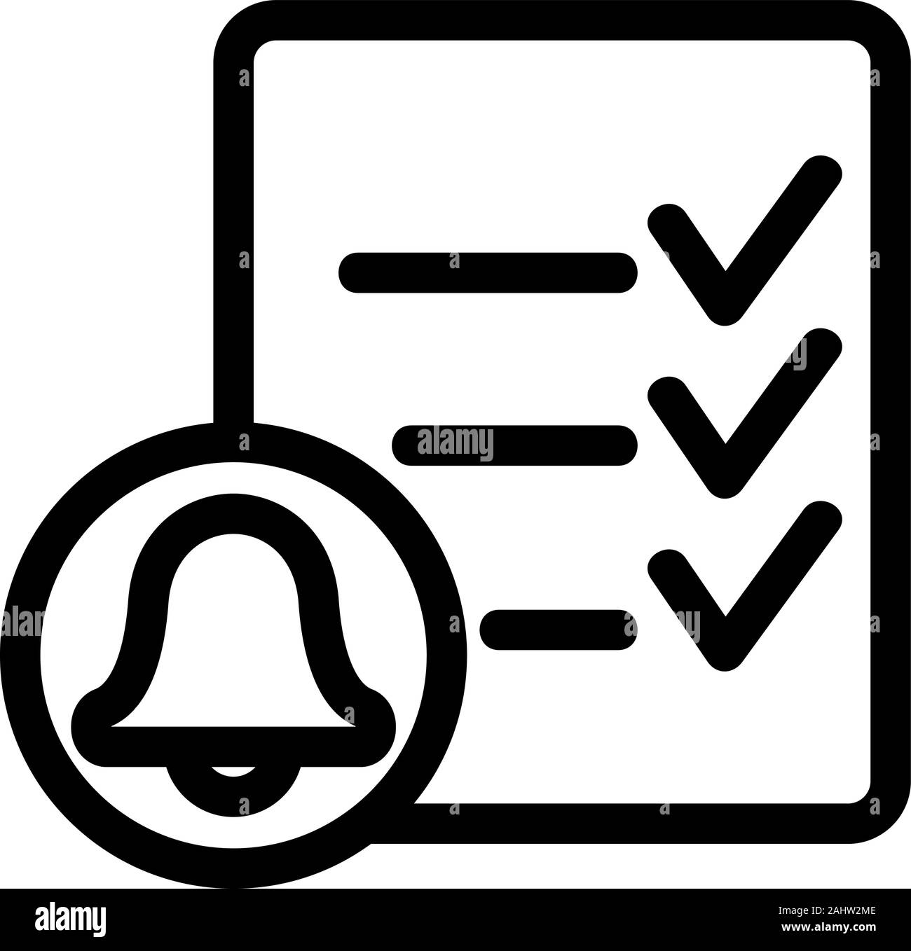 reminder icon vector isolated contour symbol illustration stock vector image art alamy https www alamy com reminder icon vector isolated contour symbol illustration image337997086 html