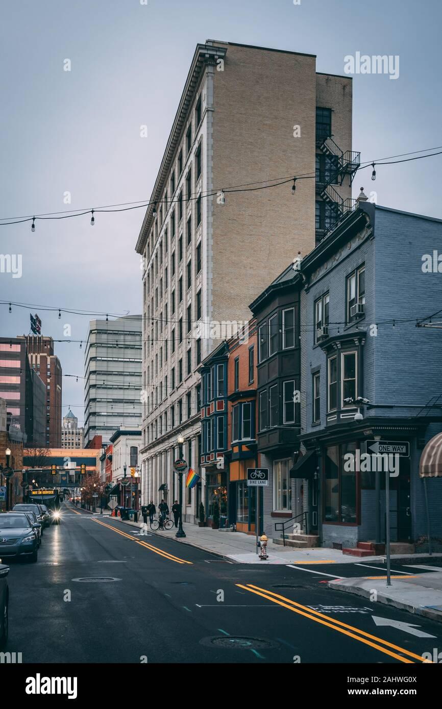 3rd Street in downtown Harrisburg, Pennsylvania Stock Photo