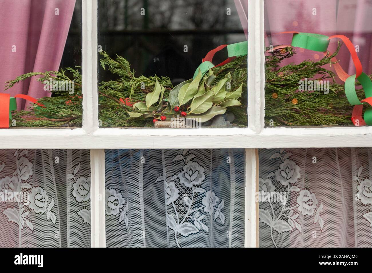 Curtains Window Christmas High Resolution Stock Photography And Images Alamy