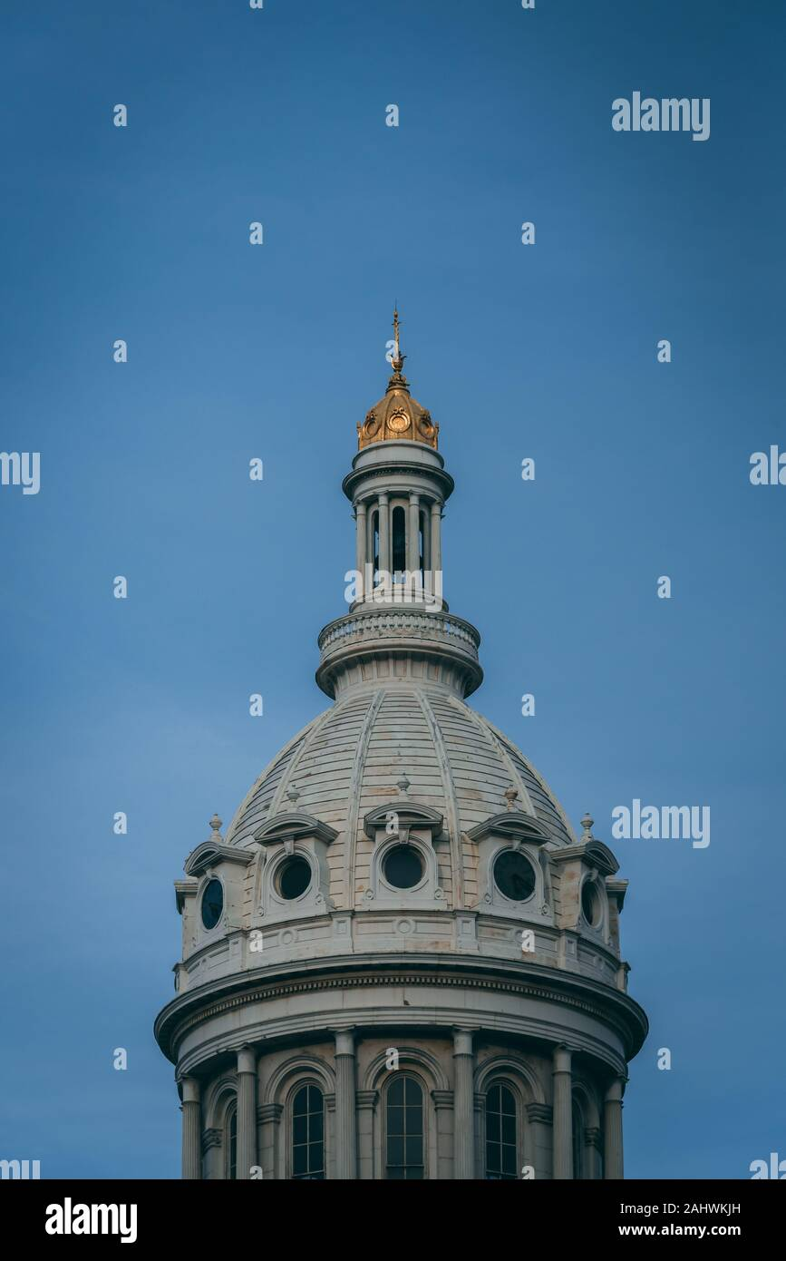 Dome of City Hall, in downtown Baltimore, Maryland Stock Photo