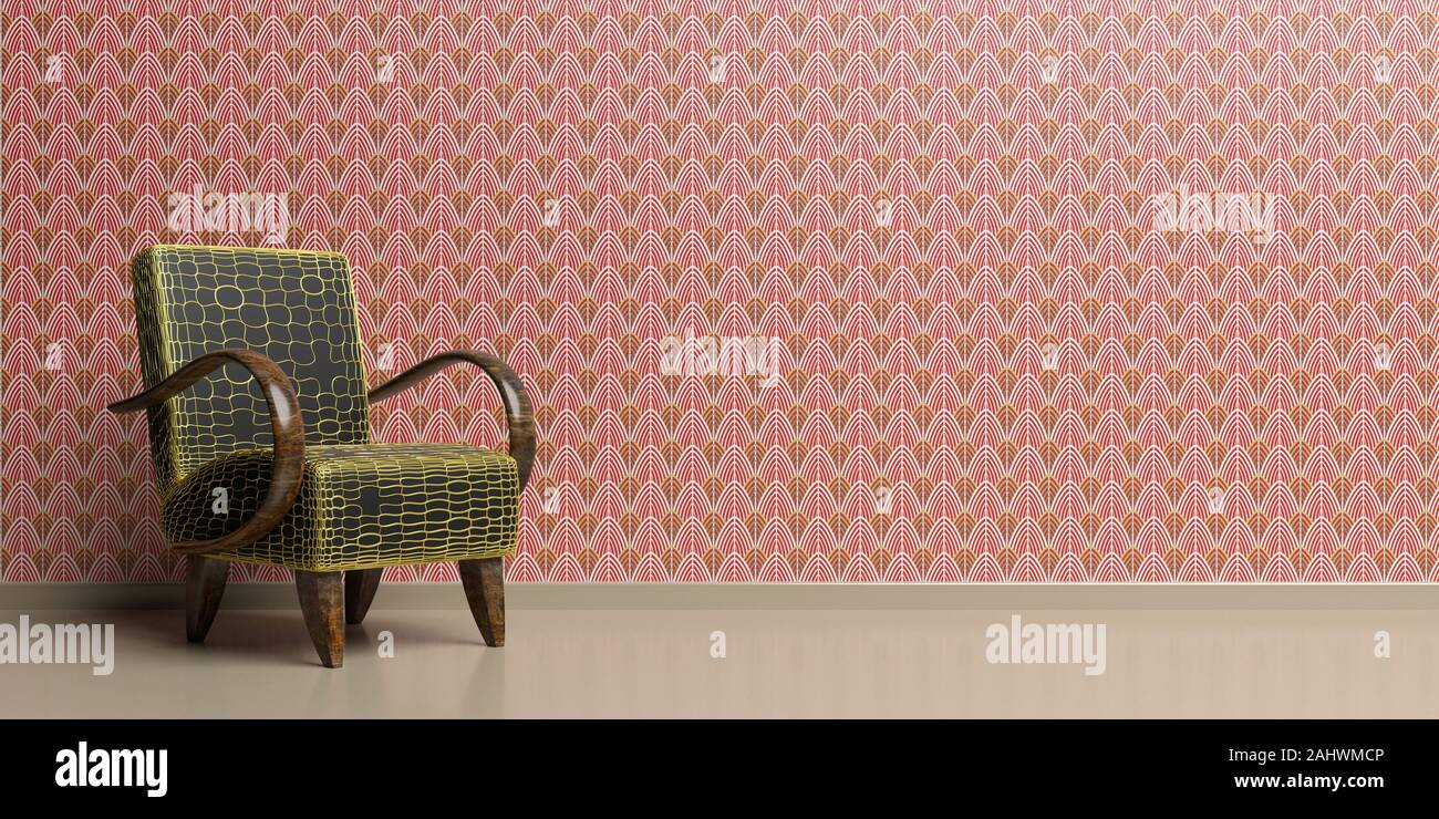 Art Deco Style Armchair High Resolution Stock Photography And Images Alamy