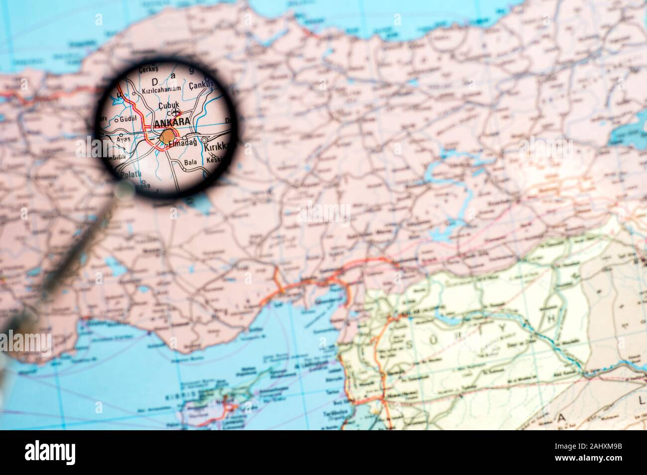Picture of: Geographical Map Of Turkey With The Increase Of The Capital Ankara The Concept Of News And Events Screensaver Stock Photo Alamy