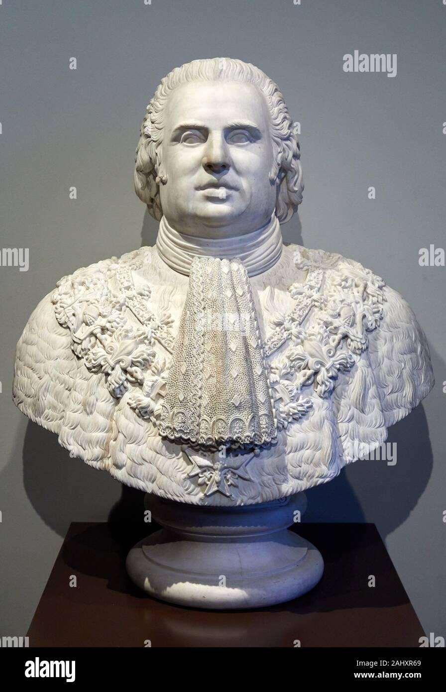 """""""""""""""Louis XVIII, King of France and Navarre (1755-1824)"""""""", 1818, Charles Dupaty, Musée de l'Armée, Hôtel National des Invalides, Paris, France Stock Photo"""