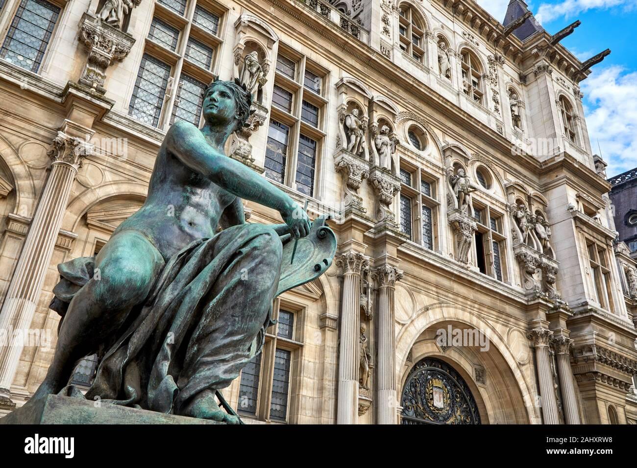 Hôtel de Ville, Paris, France Stock Photo