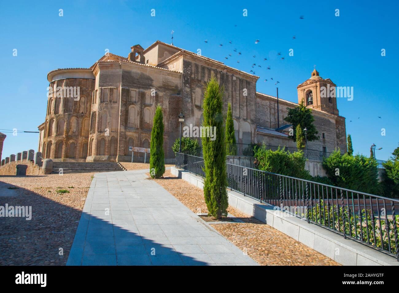 Santa Maria del Castillo church. Madrigal de las Altas Torres, Avila province, Castilla Leon, Spain. Stock Photo