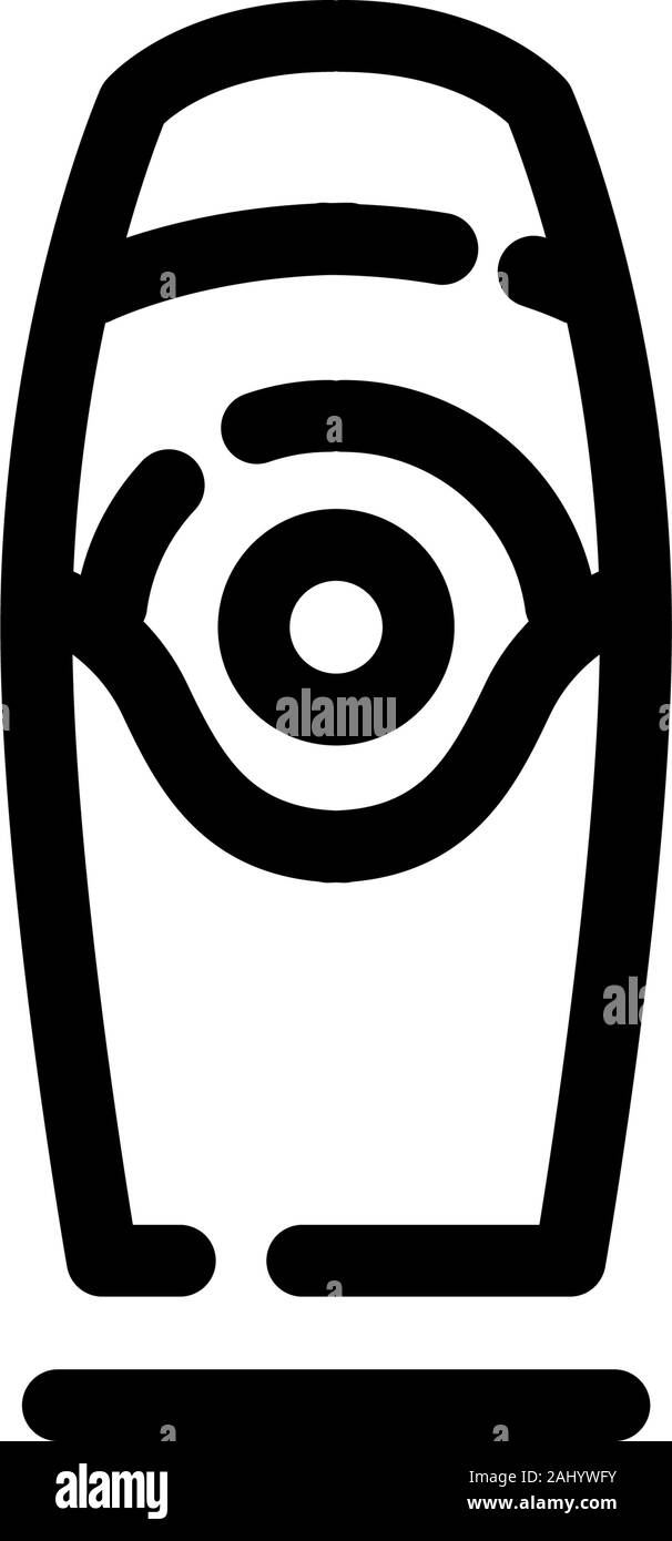 Sex toy for adults. Vibrator. Vector icons on a white background. Trendy linear icon. Icon for website and print. Logo, emblem, symbol. Interface elem Stock Vector