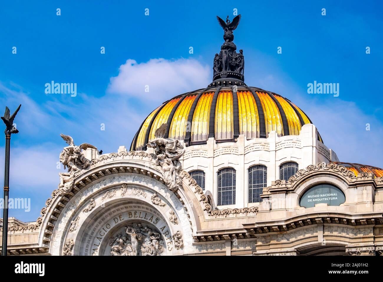 Palacio de Bellas Artes, Palace of Fine Arts, National Museum of Architecture, Mexico City, Federal District, Mexico. Stock Photo