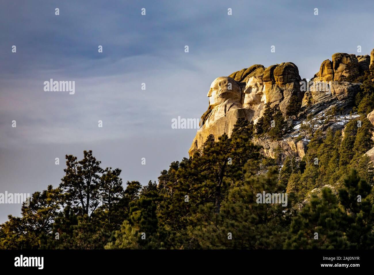 Keystone, South Dakota - Mount Rushmore National Memorial. Stock Photo