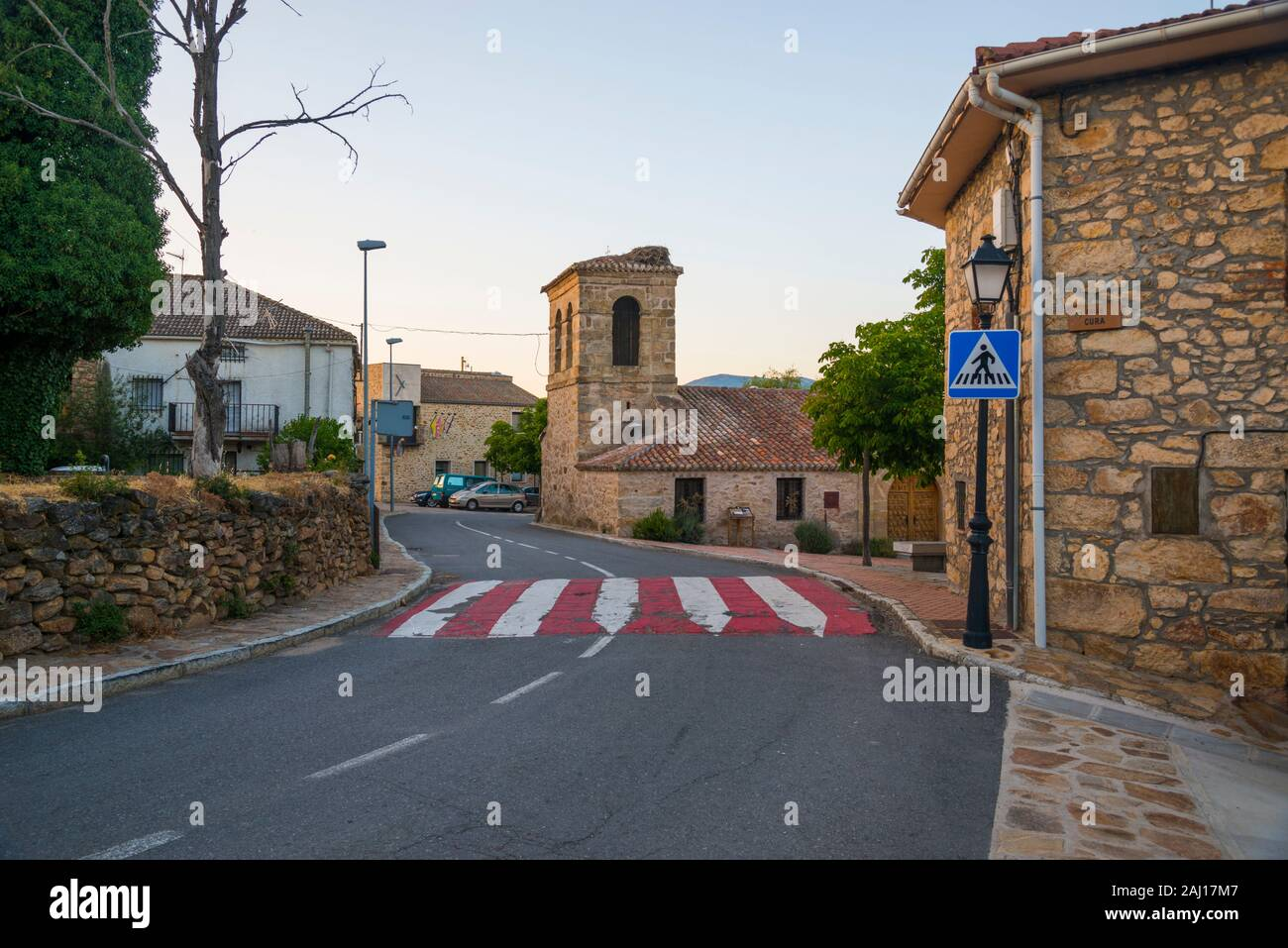 Street. Piñuecar, Madrid province, Spain. Stock Photo