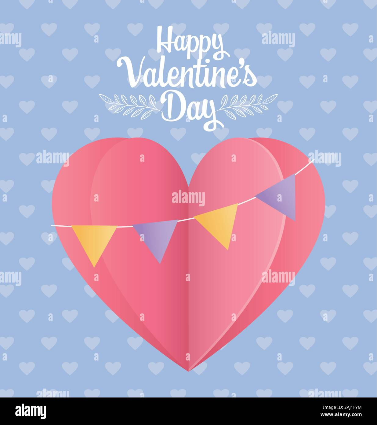 Happy valentines day origami balloons hearts Vector Image | 1390x1235