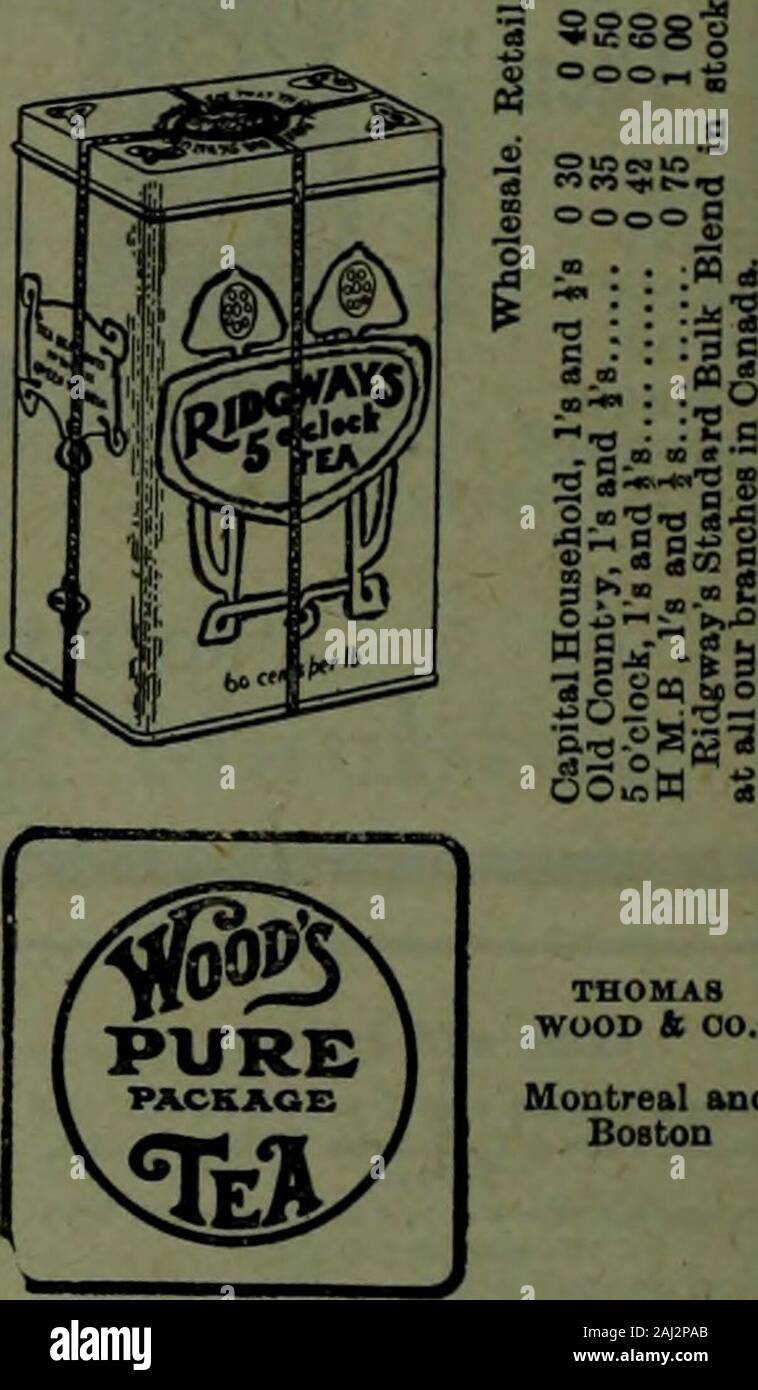 Canadian grocer July-December 1908 . acked in air-tight tins only. wholesale retail Blue label is and Is 0 24 0 30 Orange is, is and Is.... 0 30 0 40 Pink Vja&ls.tins .... 0 35 0 50Red Dominion blend, is and Is 0 44 0 60 Gold Afternoon blend, isandls 0 60 0 70 pYLONTE^ RInnT.ahel.l a 0 20 BlneLabeLia 0 21 Orange Label, Ia and ia .... 0 23 Brown Label, la and ia 0 38 Brown Label, i 0 30 Qresn Label, la and ia 0 86 MINTO BROS., 55 Front St. East Wholesale Retail. Black, green. mUed,i. 0 70 100 is .....!.. 0 44 0 60 • • 1 Iba. k is. 0 40 0 60 Is. .......0 38 0 50 libs.* is. 0 35 0 50 lib!,.is.... Stock Photo