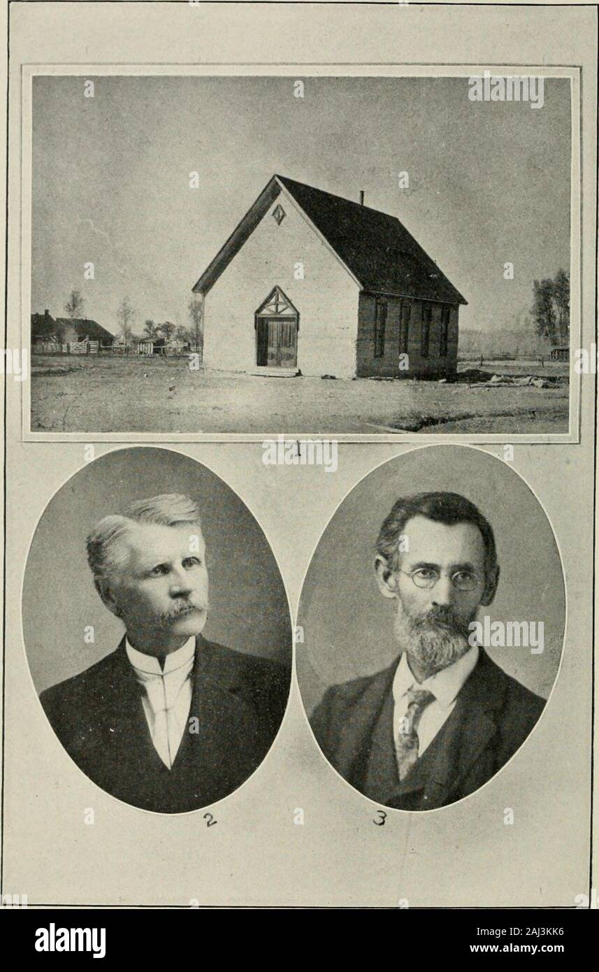 Contributions to the Historical Society of Montana . THE BOZEMAN ACADEMY. lege, or for active life, by instruction somewhat broader andmore advanced than that in the public schools. Three courses of study were announced: Classical, Scien-tific, and Normal. General control of the Academy wasvested in the Presbytery of Montana, but its managementwas unsectarian. The first years enrollment was 84, counting no namestwice. At the end of five years, in the spring of 1892, theattendance was 103, without music pupils, who at first werea considerable part of the enrollment. The Academys workand its pat Stock Photo