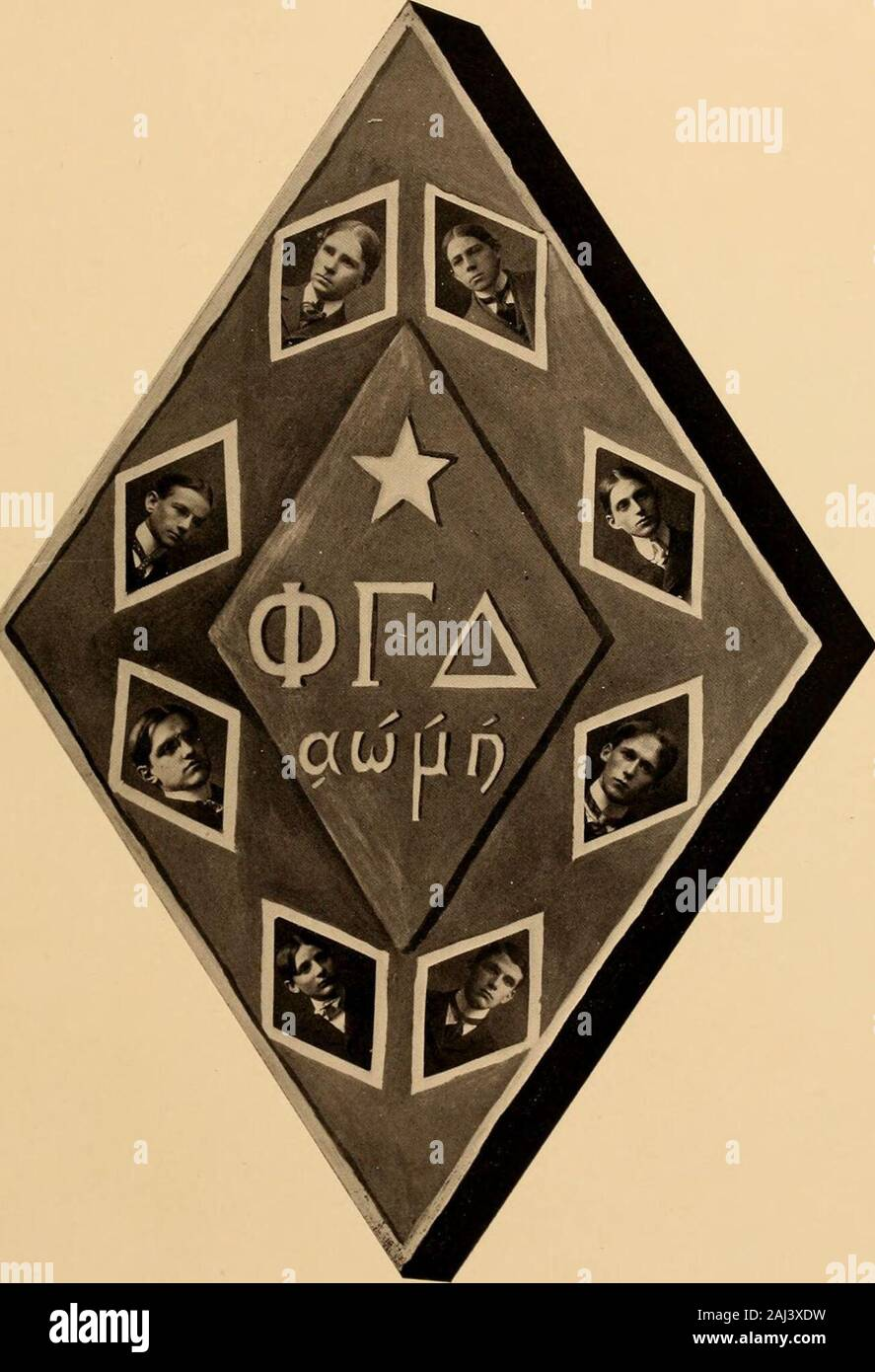Kaleidoscope . Phi Gamma Delta. Founded at Washington and Jefferson, in 1848. Color. Royal Purple. Delta Deuteron Chapter. Established, 1870. Fratres in Collegfio. Thomas Owen Easley Colin Dunlap Spottswood J. E. B. Holladay Willard James Riddick Lewis Dupuy Johnston Walker Cutts John Craddock Lawson Richard Pegram Boykin Fratres in Urbe.Monroe D. Morton Edward S. Dupuy T. Sanford Hart Rey. B. F. Bedinger Active Chapters, Forty-eight. Alumni Chapters, Sixteen. Convention held at Niagara Palls, New 5Tork, July 28th, 20th, 30th, 31st, 190(t.Dfli-jjatis, D. Spottswood and J. Scales, 82. Sigma Chi Stock Photo