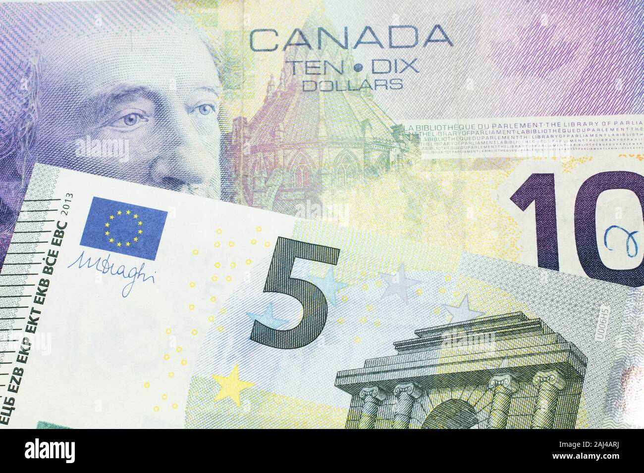 Mixed Dates Canadian Five Dollar Banknote lot