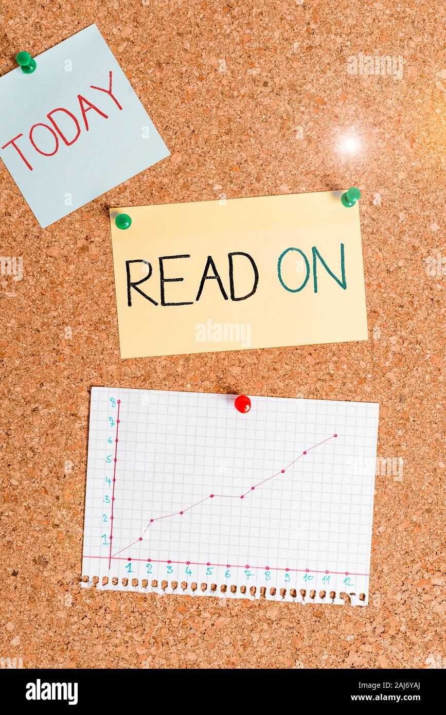 Text Sign Showing Read On Business Photo Text Spend Time Reading In Order To Find Out Information About Something Corkboard Color Size Paper Pin Thum Stock Photo Alamy