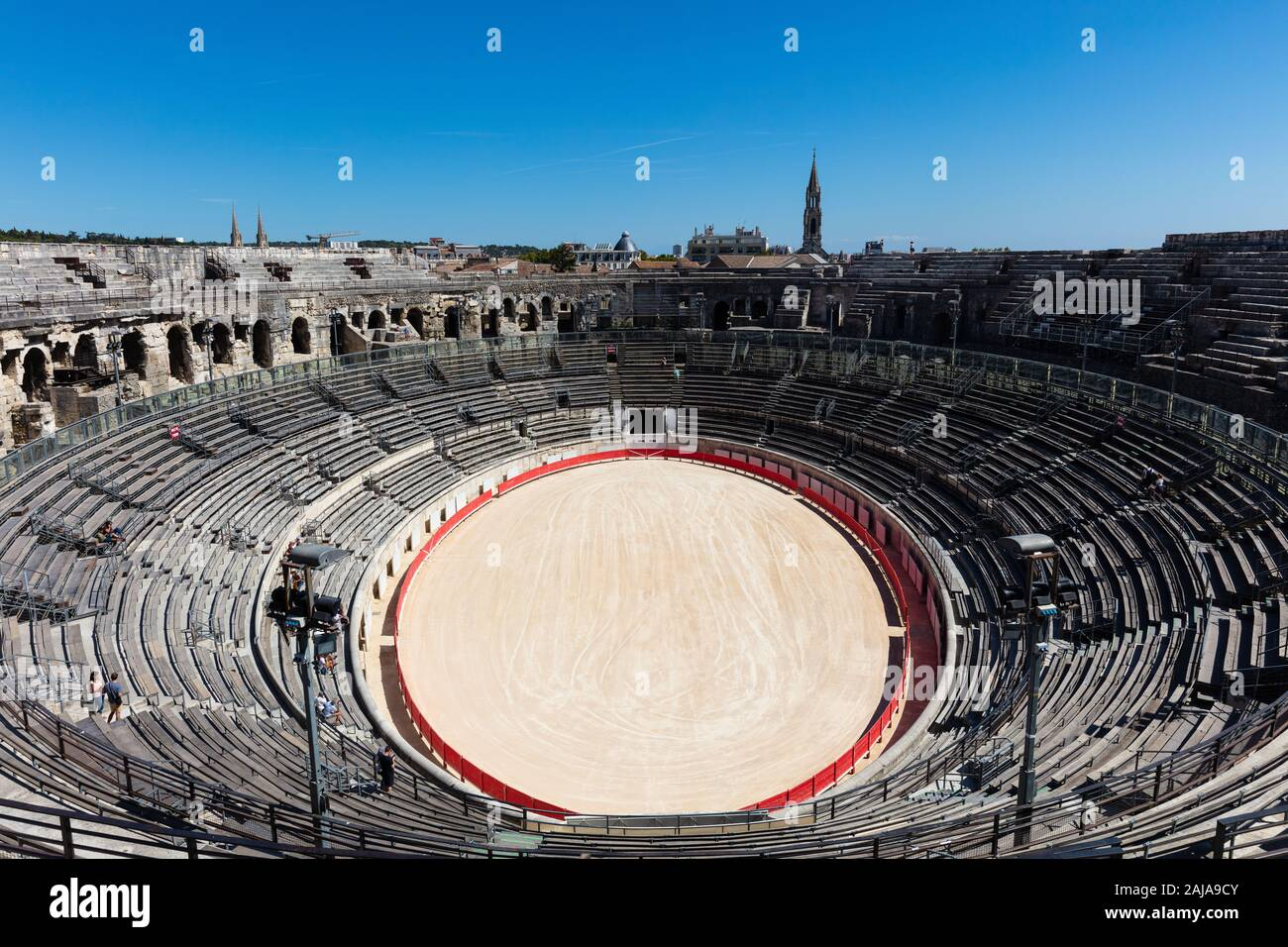 Bull Fighting Arena Nimes Roman Amphitheater France Stock Photo Alamy