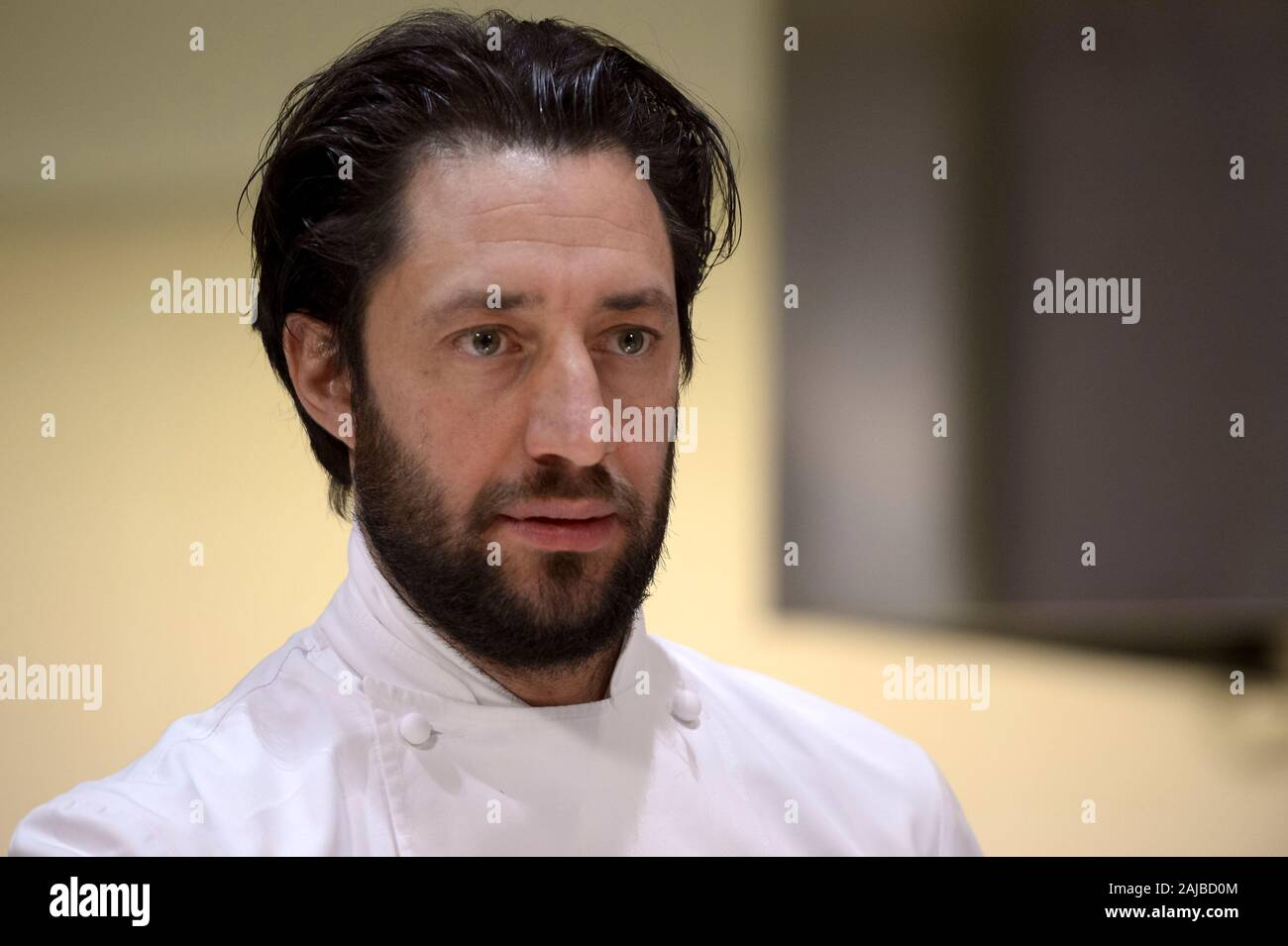 Turin, Italy - 27 January, 2017: The awards winning chef Luigi Taglienti looks on during the celebration for Eataly 10th anniversay. Eataly is the largest Italian marketplace in the world. Credit: Nicolò Campo/Alamy Live News Stock Photo