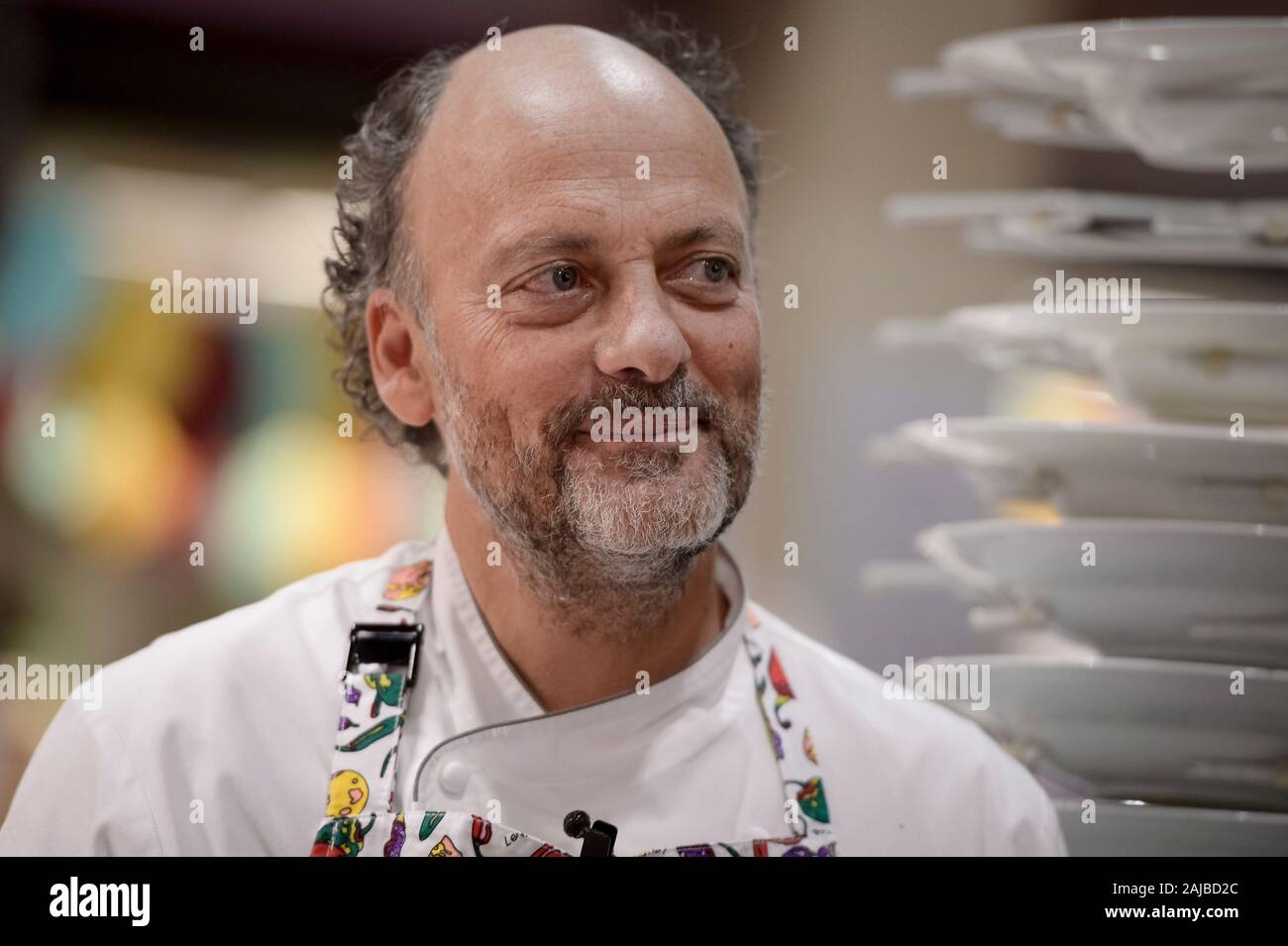 Turin, Italy - 27 January, 2017: The awards winning chef Moreno Cedroni during the celebration for Eataly 10th anniversay. Eataly is the largest Italian marketplace in the world. Credit: Nicolò Campo/Alamy Live News Stock Photo
