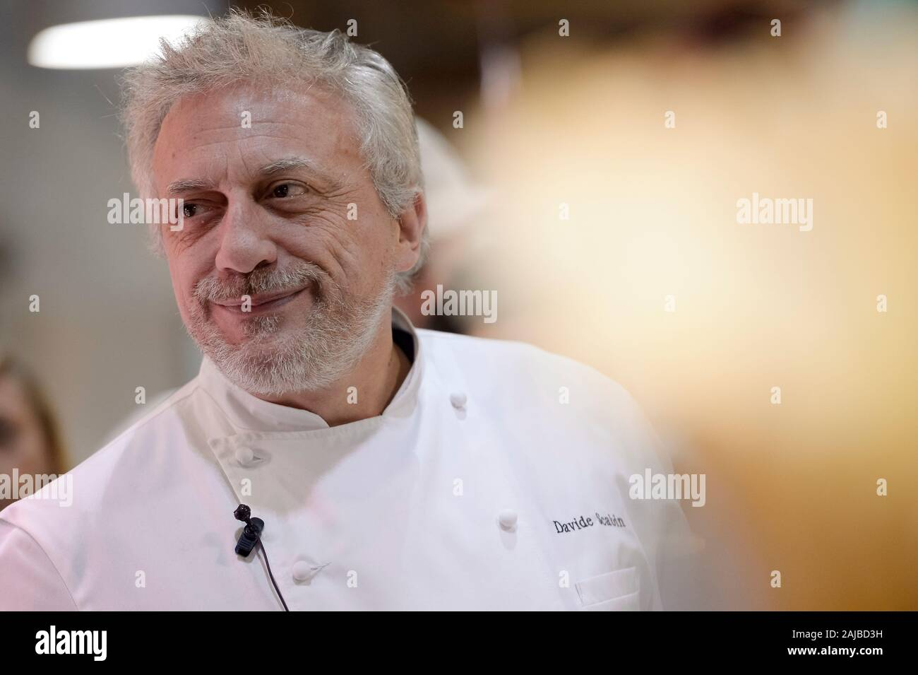 Turin, Italy - 27 January, 2017: The awards winning chef Davide Scabin looks on during the celebration for Eataly 10th anniversay. Eataly is the largest Italian marketplace in the world. Credit: Nicolò Campo/Alamy Live News Stock Photo
