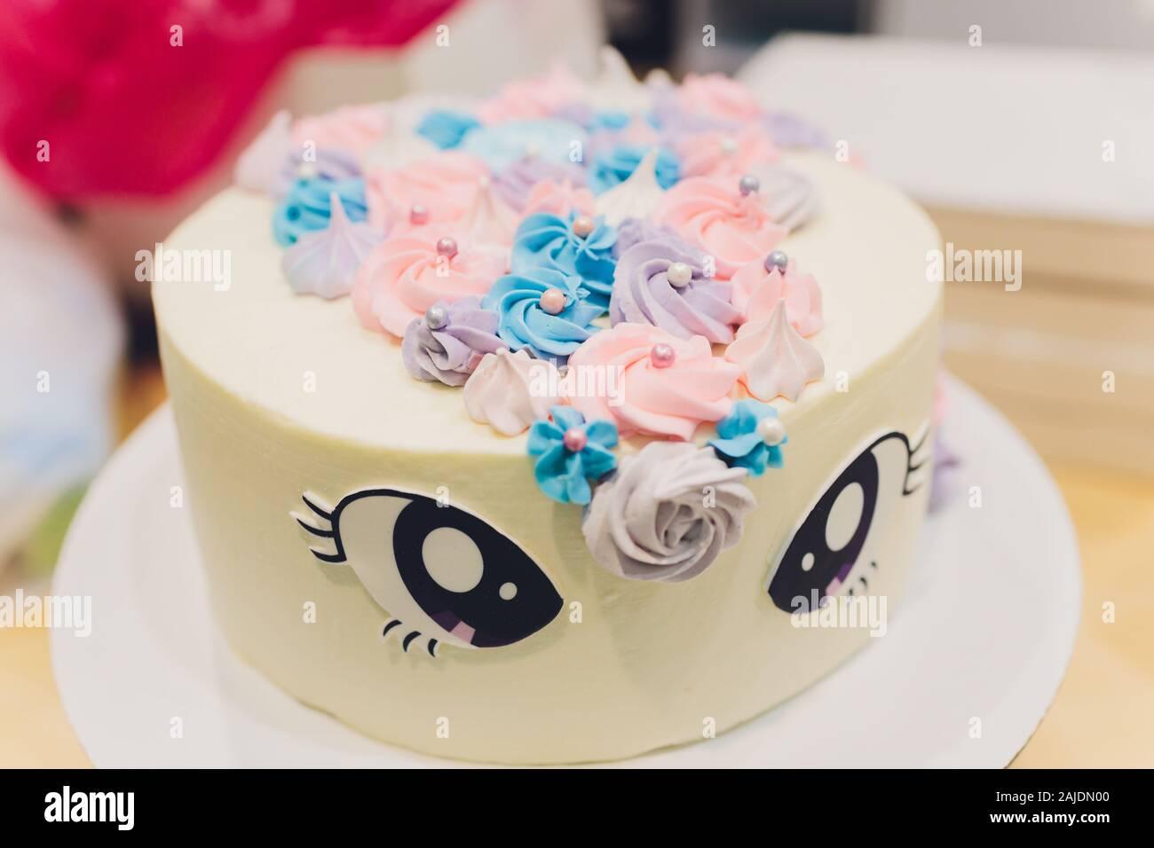 Surprising Unicorn Rainbow Cake Stock Photos Unicorn Rainbow Cake Stock Funny Birthday Cards Online Alyptdamsfinfo