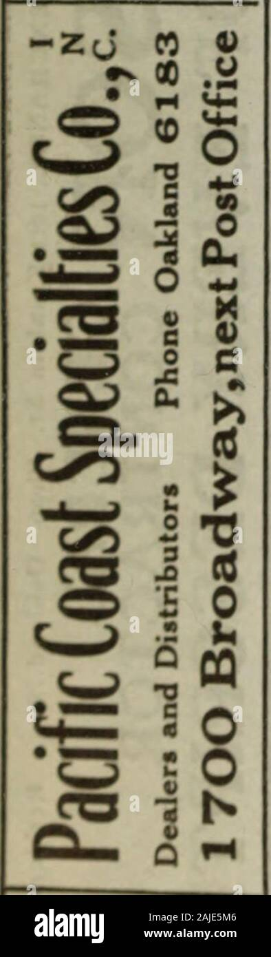Polk-Husted Directory Co.'s Oakland, Berkeley and Alameda directory . Stock Photo