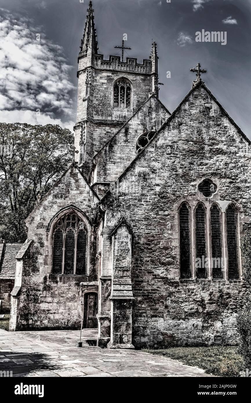 St Bartholomew's Church in Corsham Stock Photo