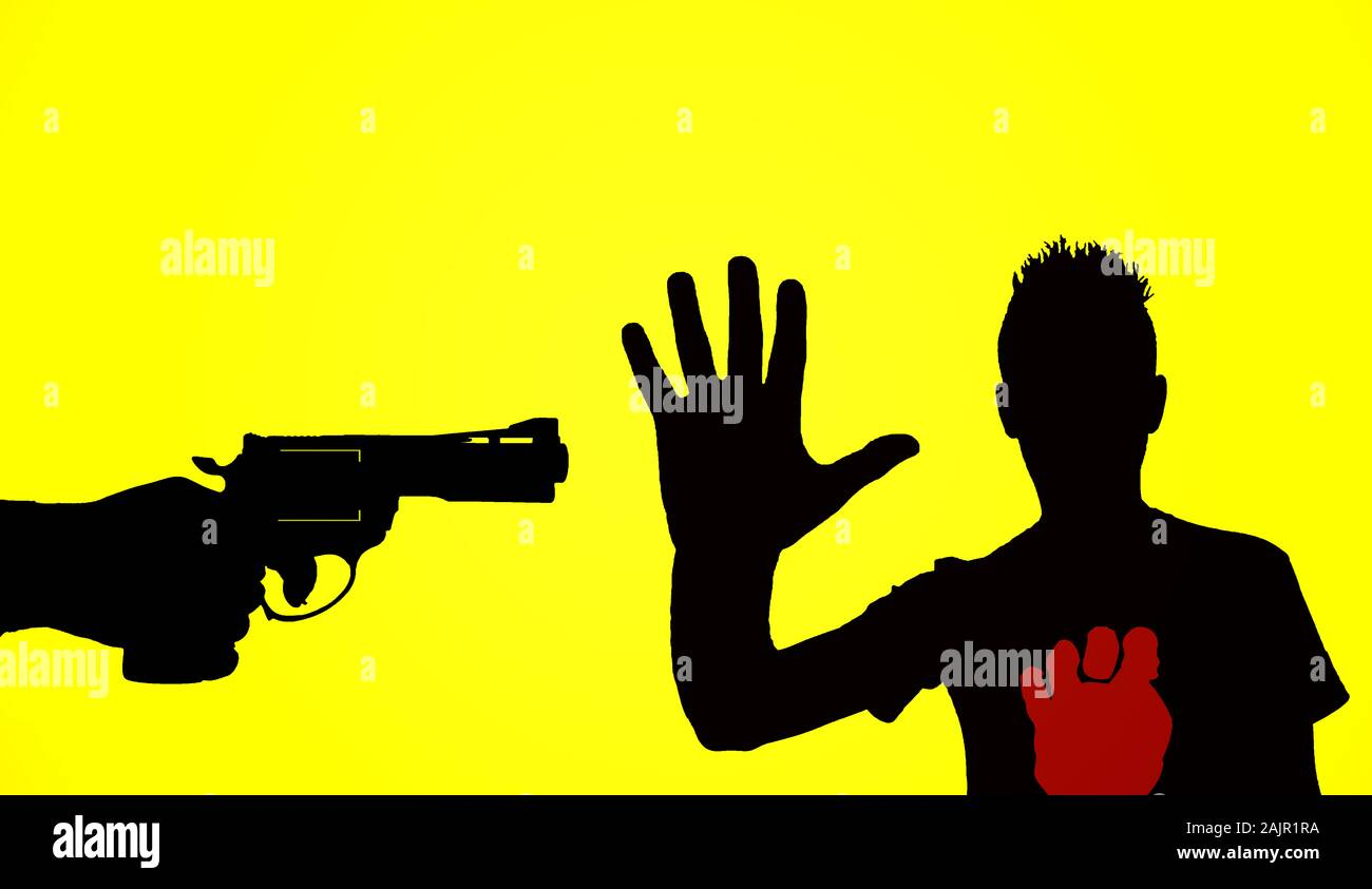 Man Hand Gun Silhouette High Resolution Stock Photography And Images Alamy Discover 106 free gun silhouette png images with transparent backgrounds. https www alamy com silhouette of hand with gun and a man that make a stop gesture on yellow background illustration image338567134 html
