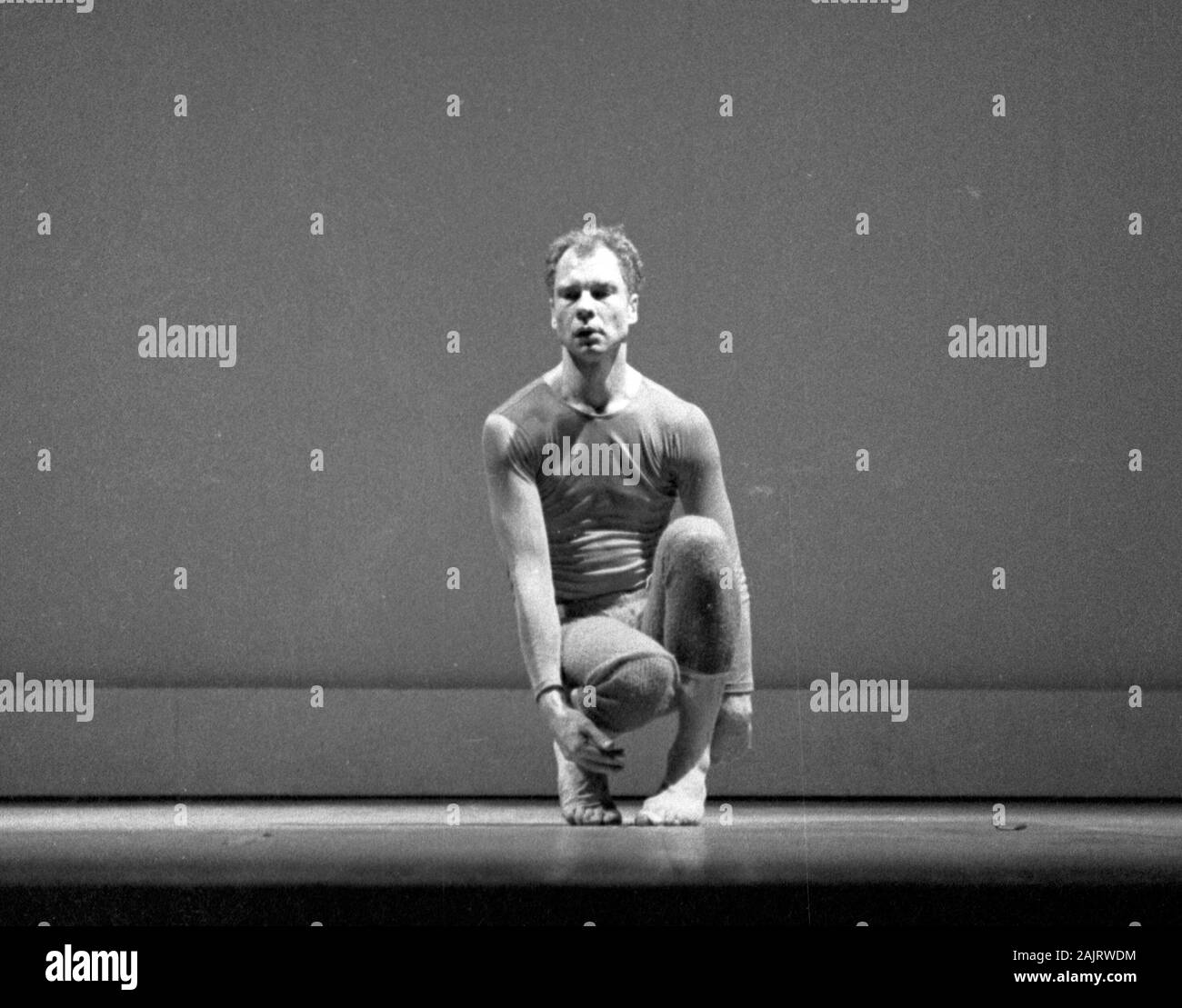 Merce Cunningham in New York City 1957, most likely these images show Cunningham performing The Changeling, which places the date as November 30, 1957. Stock Photo