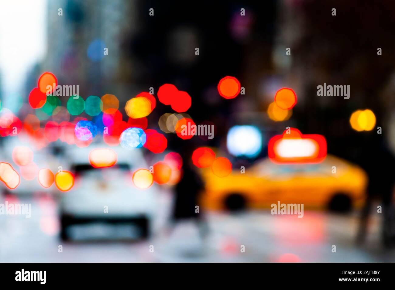 Abstract City Scene New York Stock Photo