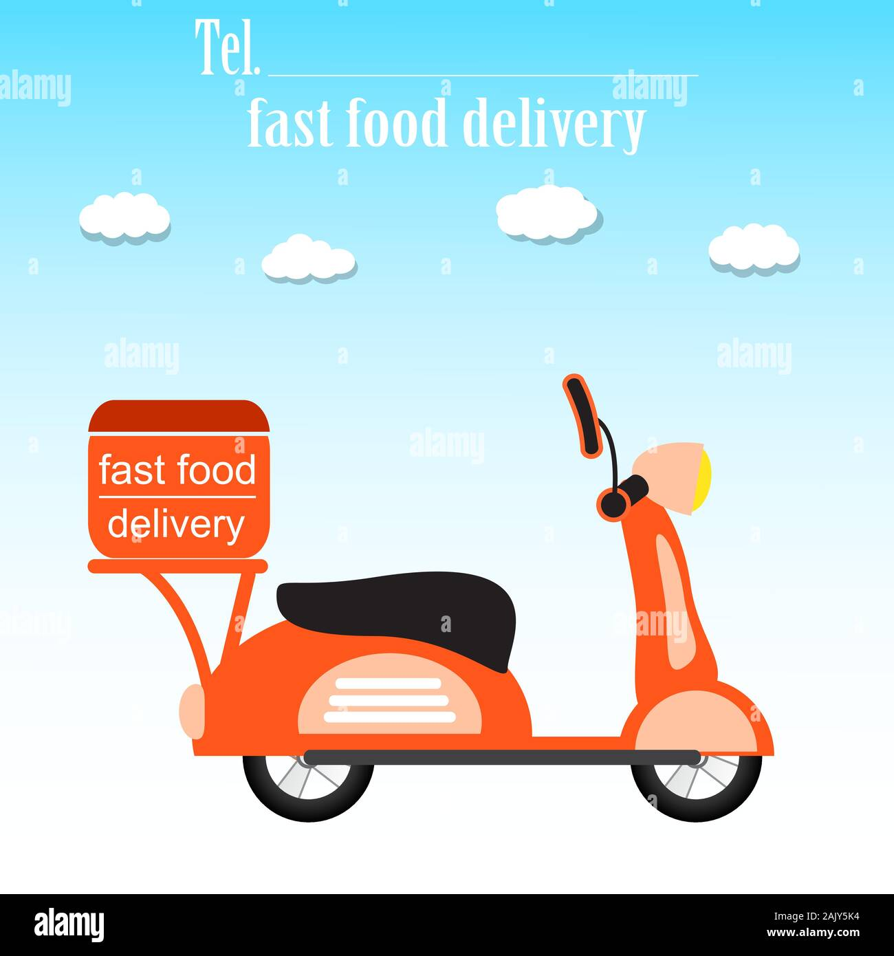 fast and free delivery fast food delivery food service retro scooter vector illustration stock vector image art alamy https www alamy com fast and free delivery fast food delivery food service retro scooter vector illustration image338657960 html