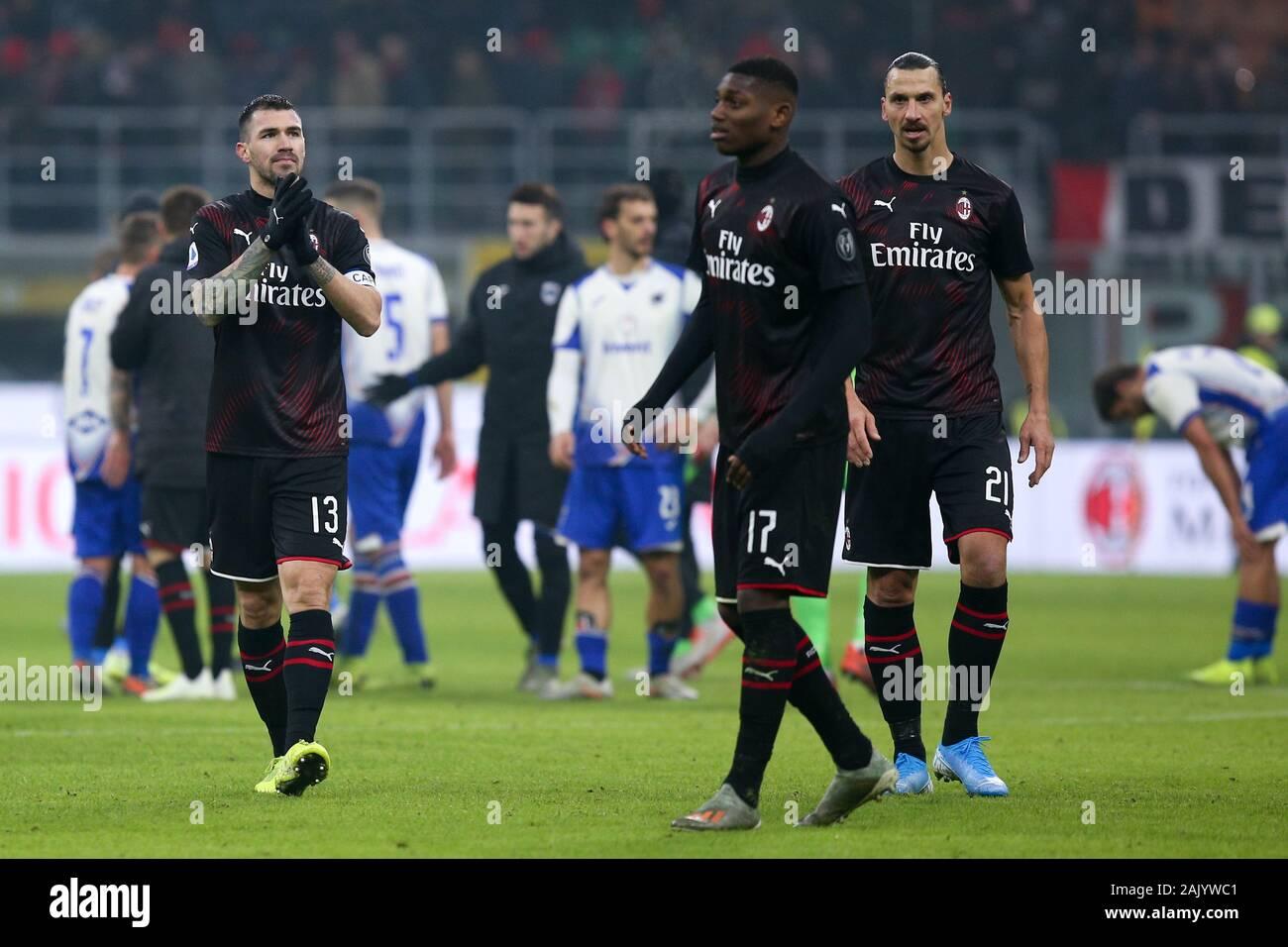 Milano Italy 06th Jan 2020 Alessio Romagnoli Milan During Ac Milan Vs Sampdoria Italian Soccer Serie