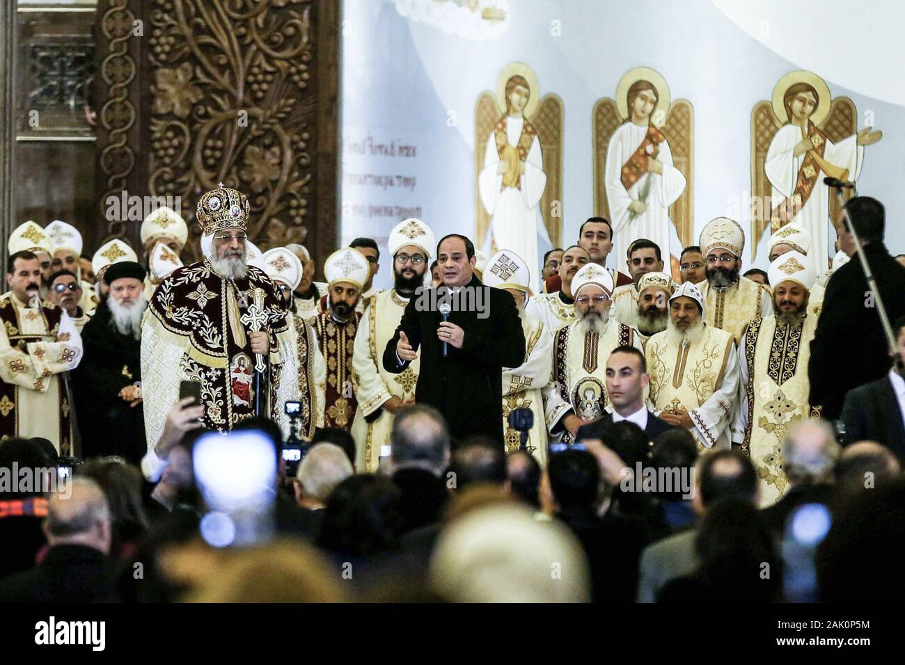 Pope Christmas Speech 2020 Cairo, Egypt. 06th Jan, 2020. Egyptian President Abdel Fattah el