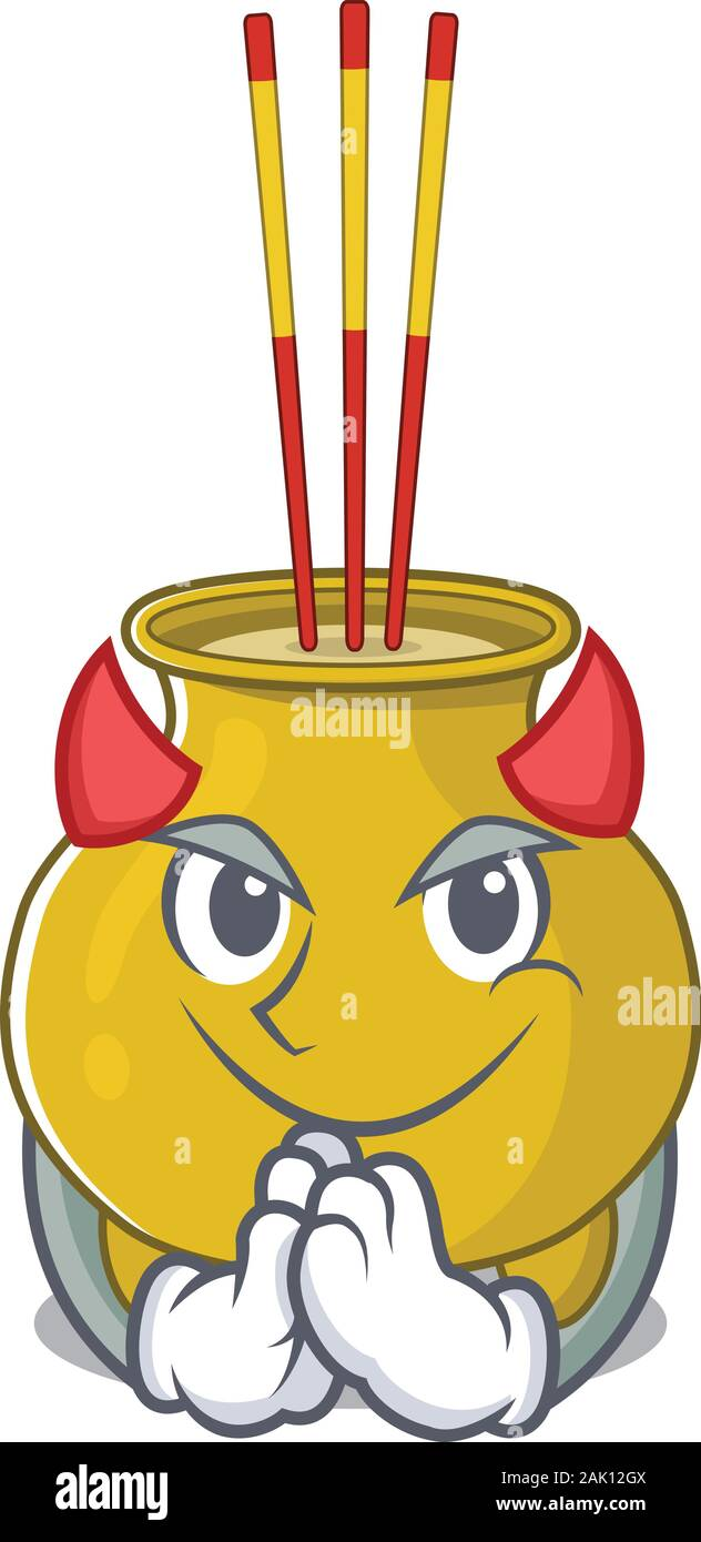 Devil Chinese Incense Cartoon In Character Design Stock Vector Image Art Alamy